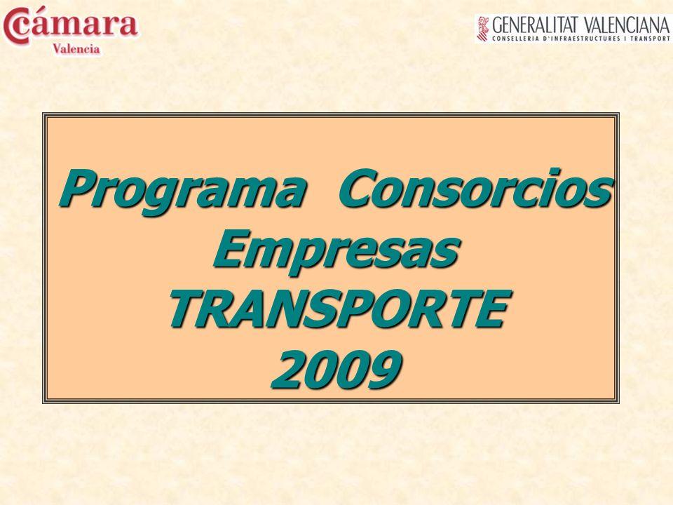 Programa Consorcios Empresas TRANSPORTE 2009