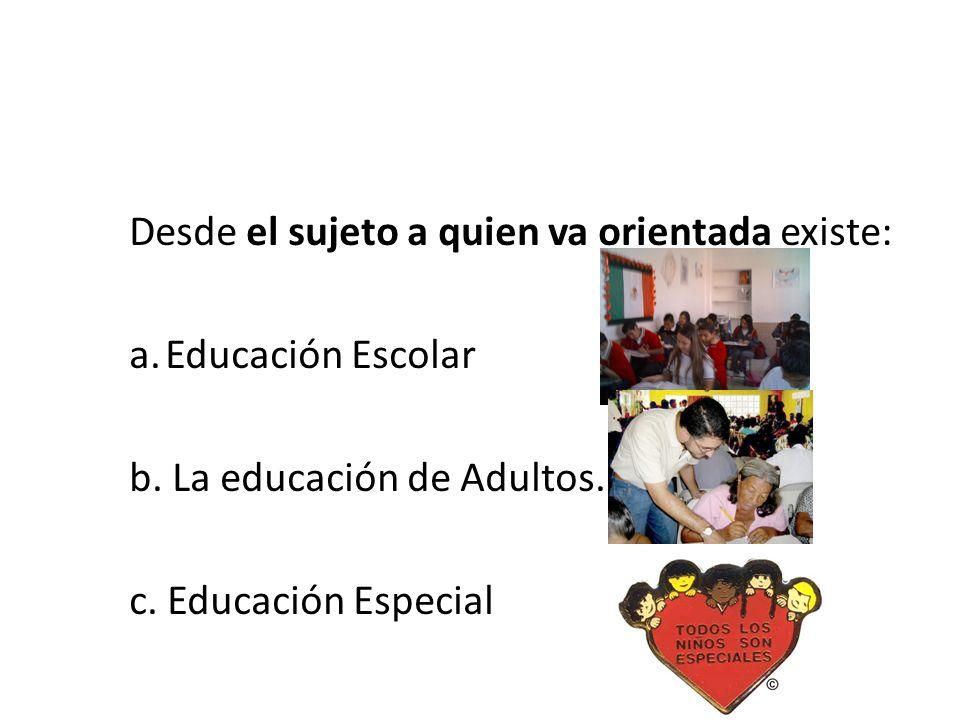 La educación para el siglo XXI Diversas perspectivas Desde la administración de los servicios educativos Educación Formal Educación no formal Educació