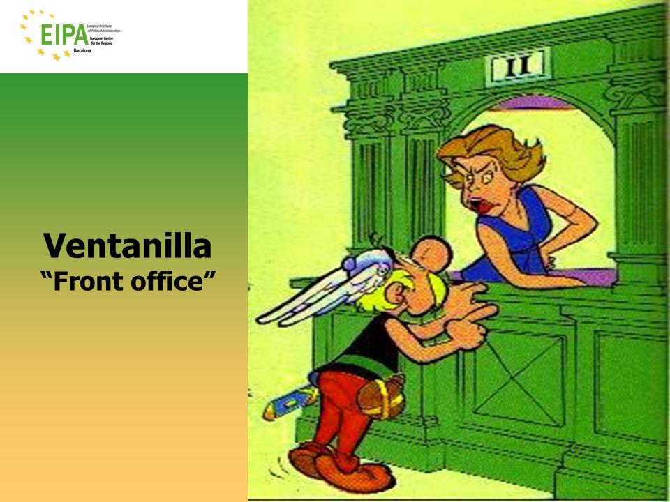 © EIPA-ECR 2010- ALH - slide 3 Ventanilla Front office