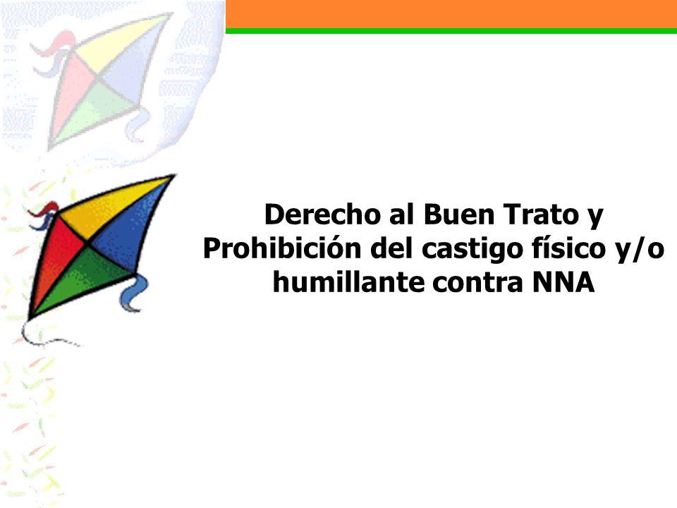 Derecho al Buen Trato y Prohibición del castigo físico y/o humillante contra NNA