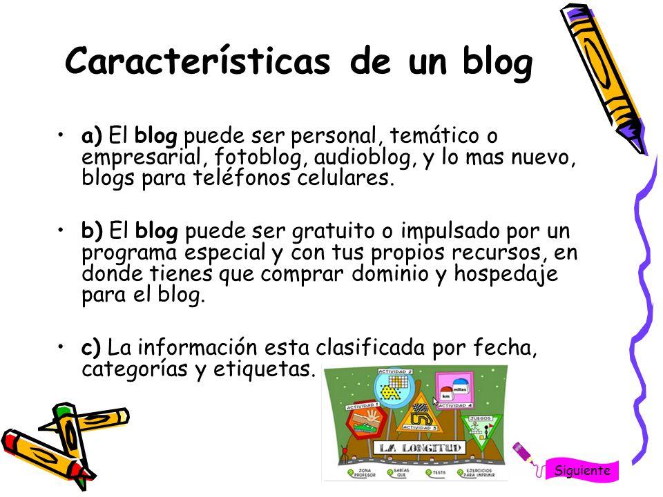 d) En tu blog puedes tener ligas hacia sitios que tengan o no relación con la temática de tu blog, además de incluir publicidad.