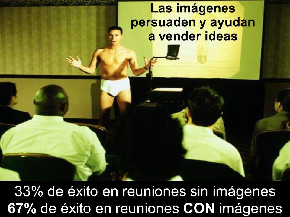 Alejandro Esganian © 2004 33% de éxito en reuniones sin imágenes 67% de éxito en reuniones CON imágenes Las imágenes persuaden y ayudan a vender ideas