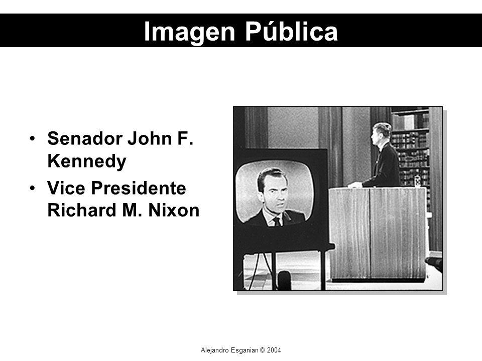 Alejandro Esganian © 2004 Senador John F. Kennedy Vice Presidente Richard M. Nixon Imagen Pública