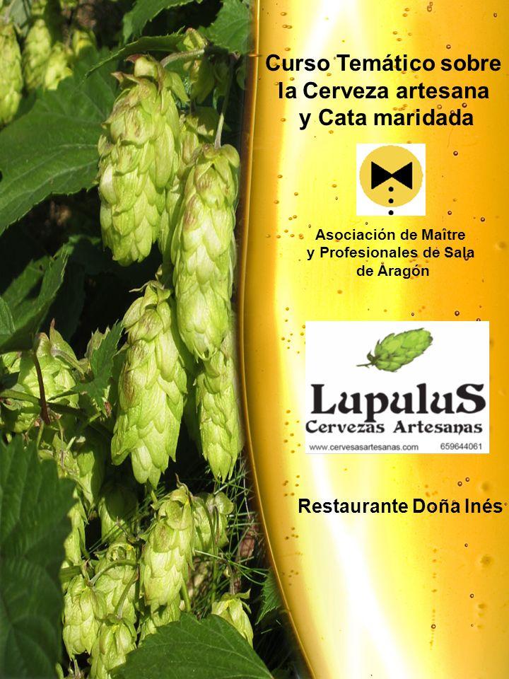 Curso Temático sobre la Cerveza artesana y Cata maridada Asociación de Maître y Profesionales de Sala de Aragón Restaurante Doña Inés