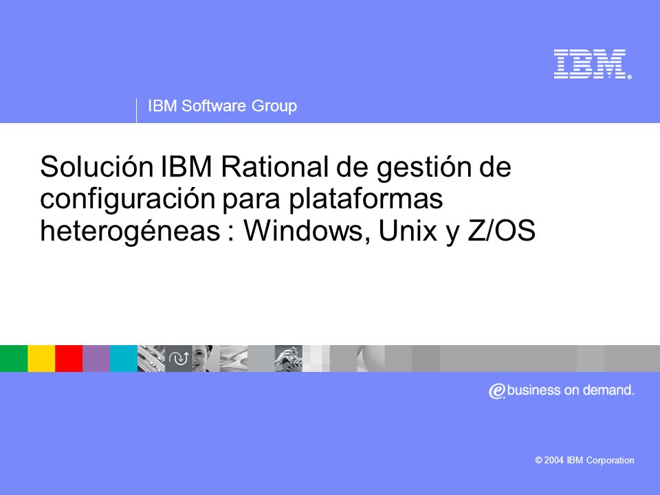 IBM Software Group Agenda ¿Porqué este seminario.