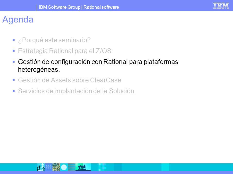 IBM Software Group IBM Rational ClearCase : Como repositorio único Robustez probada – 500,000 usuarios.