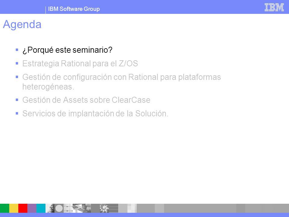 IBM Software Group Realidad del desarrollo de software en grandes corporaciones : Plataformas heterogenas de desarrollo y ejecución.