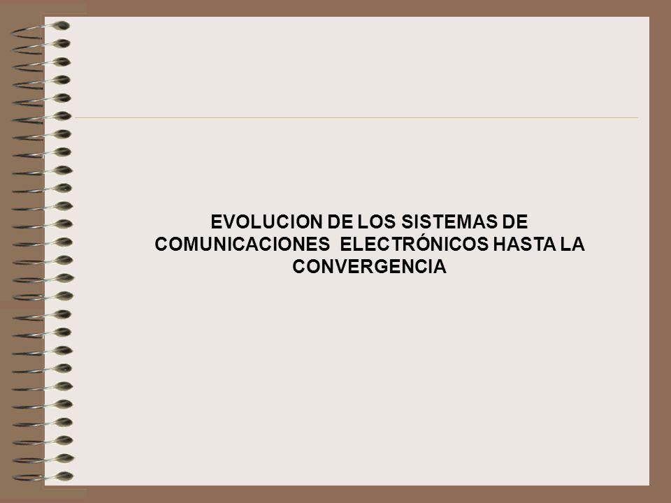 EVOLUCION DE LOS SISTEMAS DE COMUNICACIONES ELECTRÓNICOS HASTA LA CONVERGENCIA