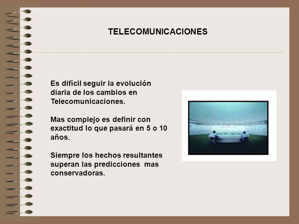 Es difícil seguir la evolución diaria de los cambios en Telecomunicaciones. Mas complejo es definir con exactitud lo que pasará en 5 o 10 años. Siempr