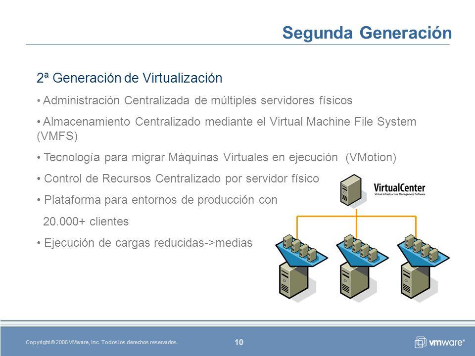 10 Copyright © 2006 VMware, Inc. Todos los derechos reservados.