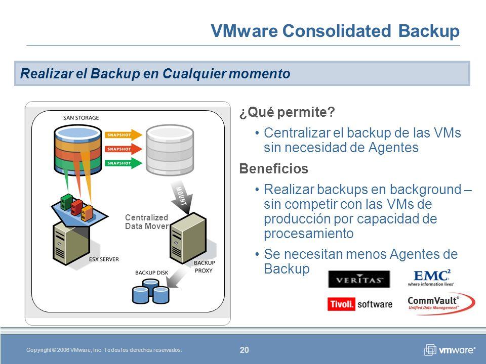 20 Copyright © 2006 VMware, Inc.Todos los derechos reservados.