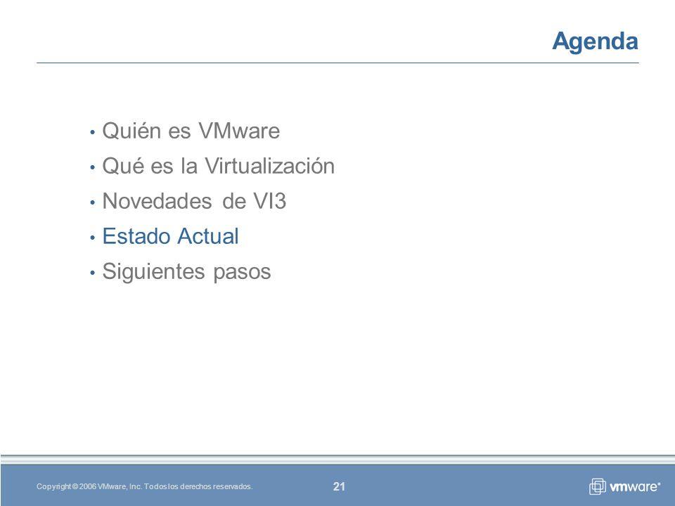 21 Copyright © 2006 VMware, Inc. Todos los derechos reservados.