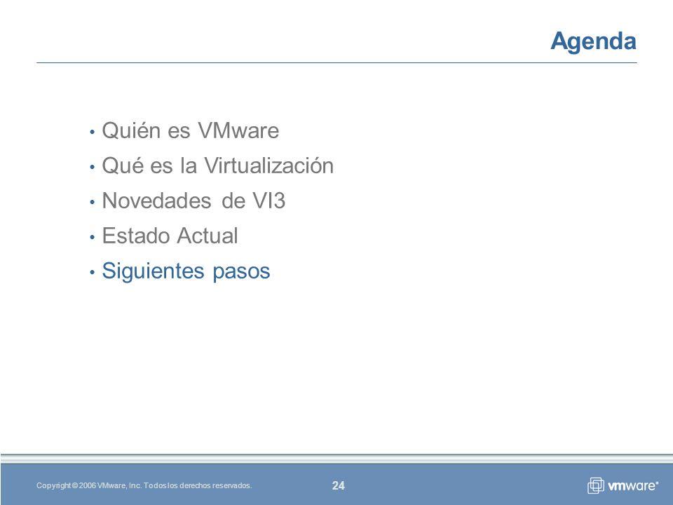 24 Copyright © 2006 VMware, Inc.Todos los derechos reservados.