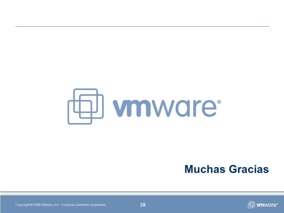 28 Copyright © 2006 VMware, Inc. Todos los derechos reservados. Muchas Gracias
