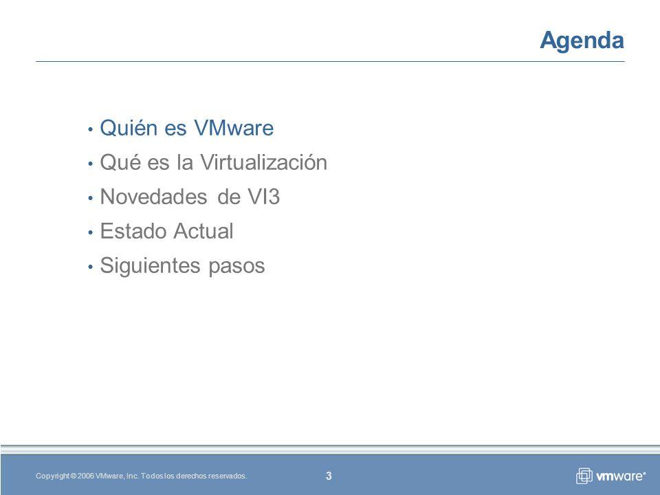 3 Copyright © 2006 VMware, Inc.Todos los derechos reservados.