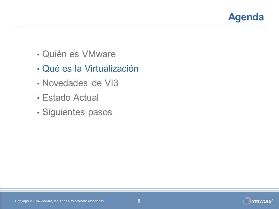 5 Copyright © 2006 VMware, Inc. Todos los derechos reservados.