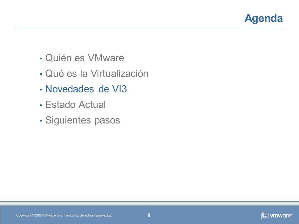 8 Copyright © 2006 VMware, Inc.Todos los derechos reservados.