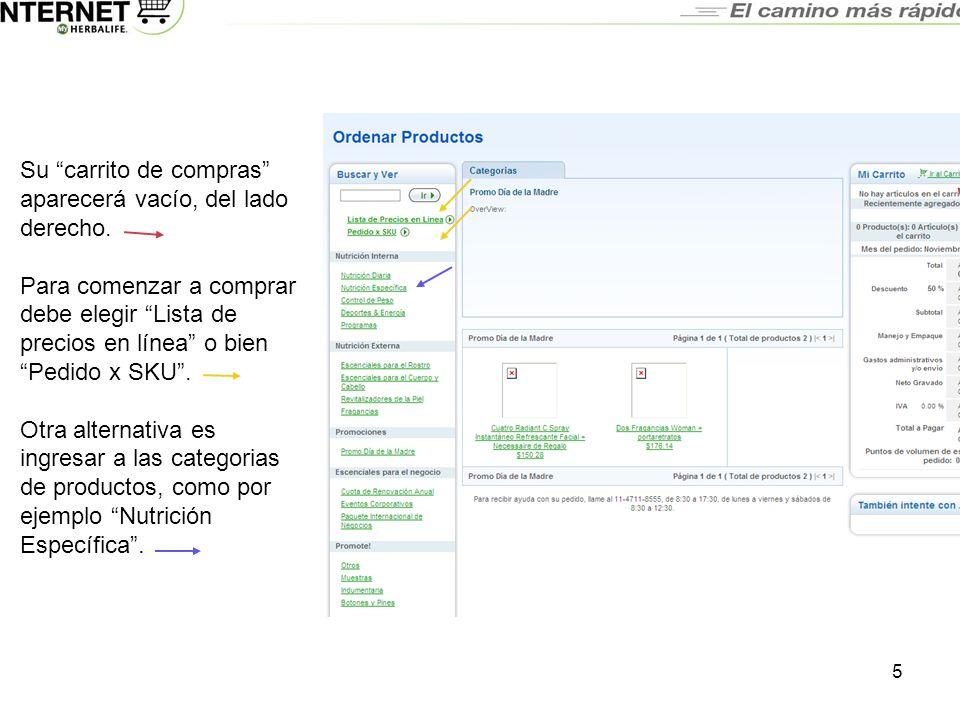 Preguntas Frecuentes Realice sus Pedidos por Internet en 10 Sencillos Pasos 1)Ingrese a Myherbalife.com.