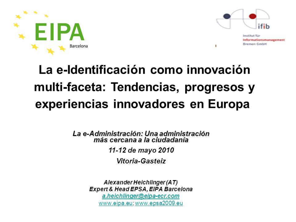 eIdentidad en la Unión Europea Universal Service Directive ( 2002/22/EC) Framework Directive (2002/21/EC) Authorisation Directive (2002/20/EC) Access Directive (2002/19/EC) Directive 1999/93/EC Directive 2002/58/EC eIdentidad eFirma i ii iii comunicaciones de banda ancha servicios digitales Servicios Públicos eficientes rich media content innovación e inversión en investigación nanoelectrónica microsistemas......