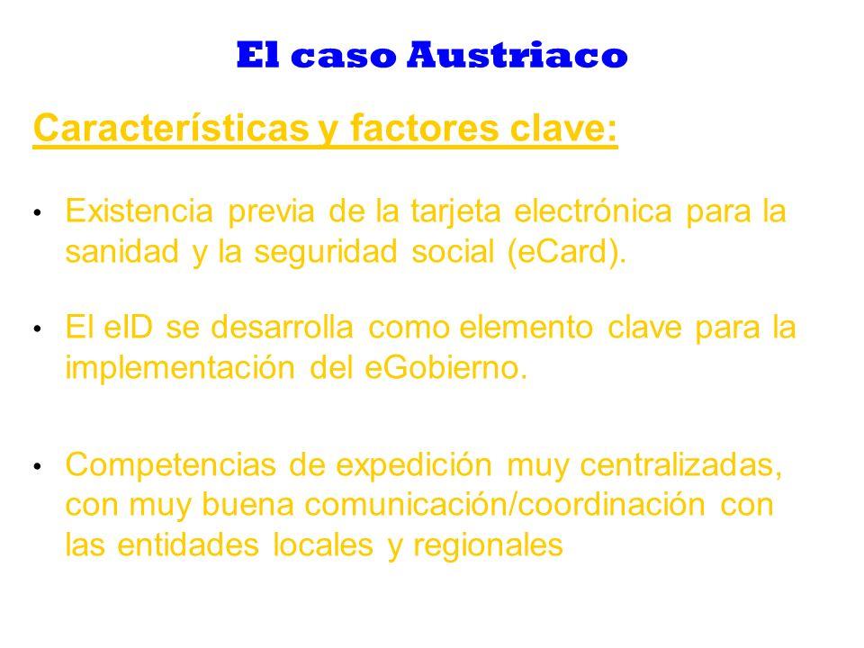 El caso Austriaco Perspectivas: Uso muy bajo, proporción mínima de certificados activados: Demasiados requisitos técnicos para los usuarios (instalación software, lector de tarjetas, proceso de activación).