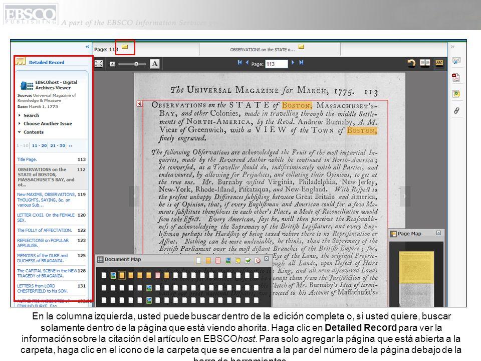 En la columna izquierda, usted puede buscar dentro de la edición completa o, si usted quiere, buscar solamente dentro de la página que está viendo ahorita.