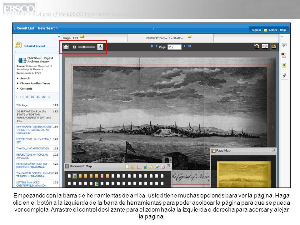Al regresar al Content Viewer, usted puede también regresar a la lista de resultados de EBSCOhost, o la pantalla para búsquedas, usando los links en parte superior izquierda.
