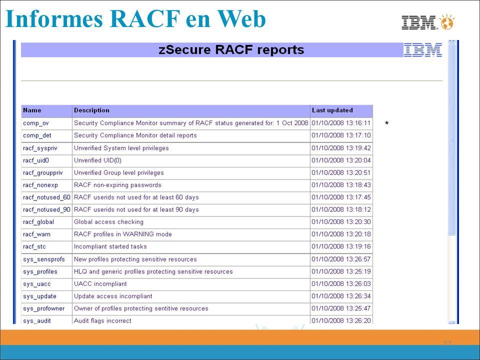 17 Informes RACF en Web *