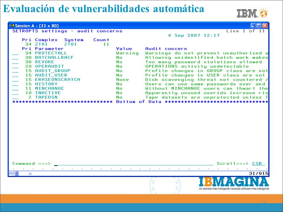 24 Evaluación de vulnerabilidades automática