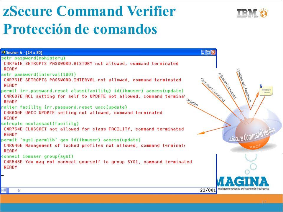 37 zSecure Command Verifier Protección de comandos