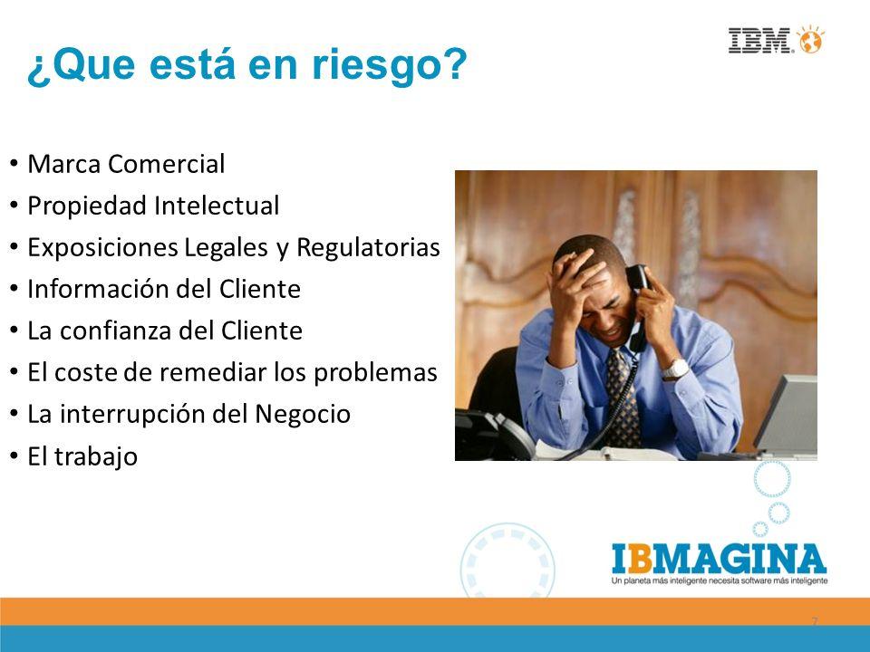 7 Marca Comercial Propiedad Intelectual Exposiciones Legales y Regulatorias Información del Cliente La confianza del Cliente El coste de remediar los