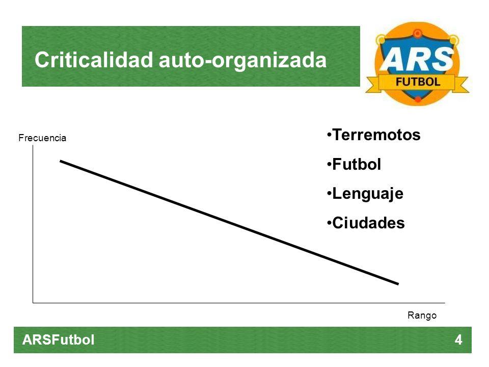 Criticalidad auto-organizada ARSFutbol 4 Terremotos Futbol Lenguaje Ciudades Rango Frecuencia