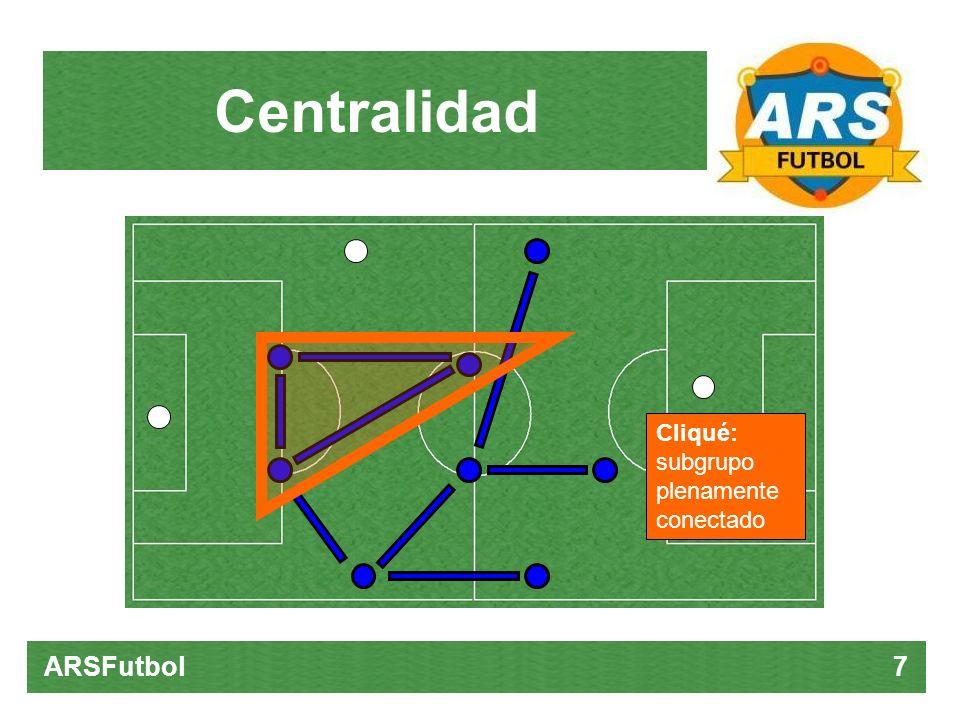 Centralidad ARSFutbol 7 Cliqué: subgrupo plenamente conectado