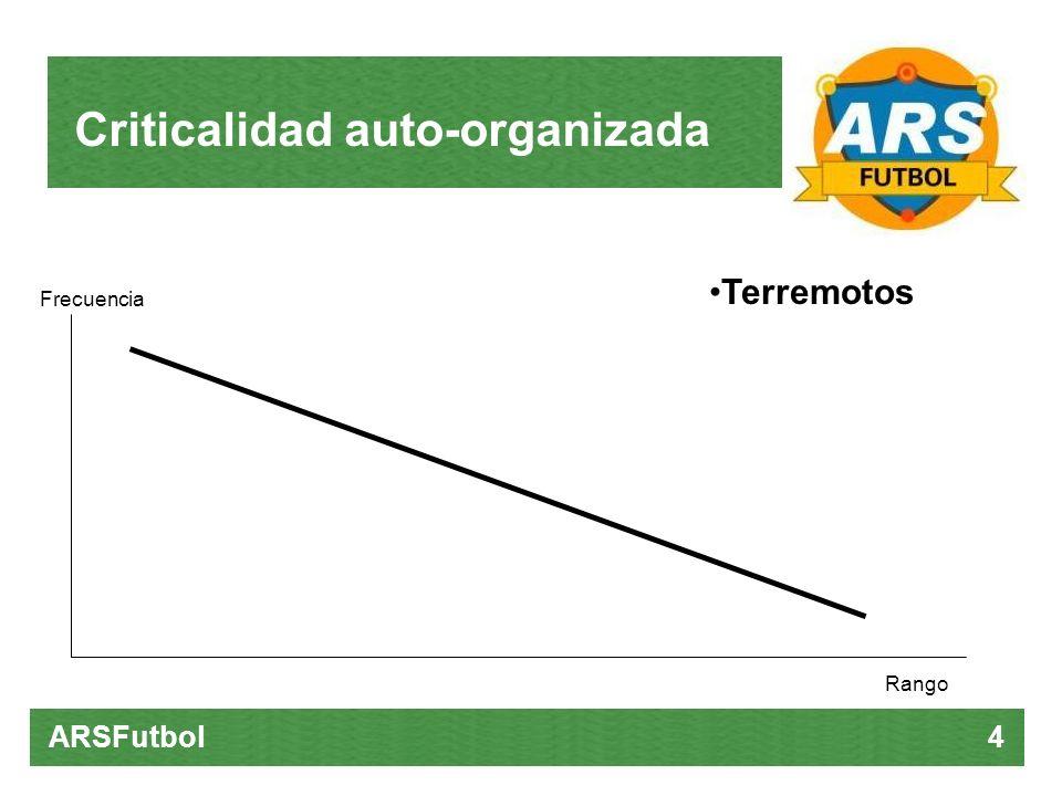 Criticalidad auto-organizada ARSFutbol 4 Terremotos Rango Frecuencia
