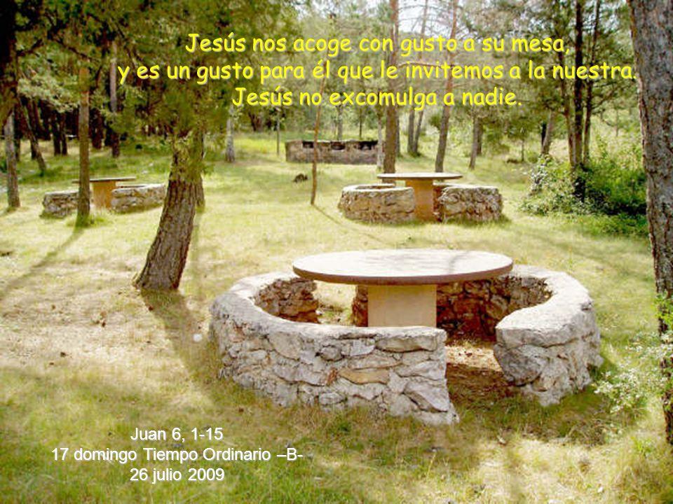 Jesús nos acoge con gusto a su mesa, y es un gusto para él que le invitemos a la nuestra.