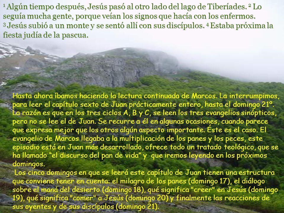 1 Algún tiempo después, Jesús pasó al otro lado del lago de Tiberíades.