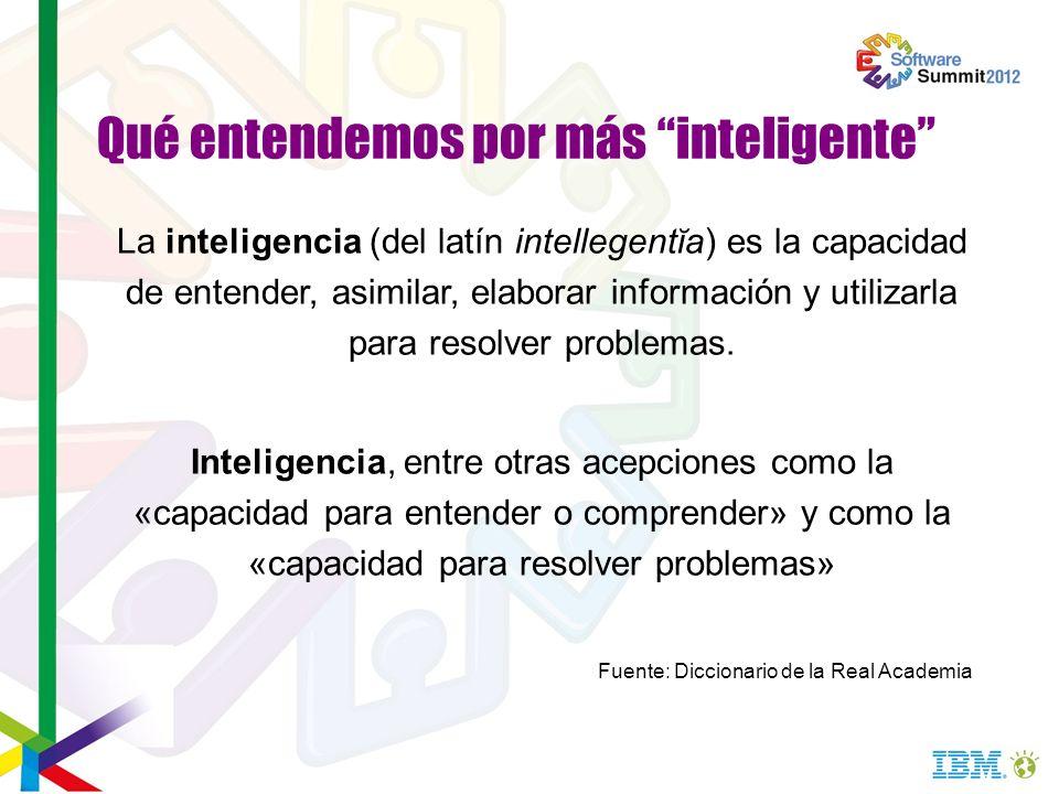 La inteligencia (del latín intellegentĭa) es la capacidad de entender, asimilar, elaborar información y utilizarla para resolver problemas. Inteligenc