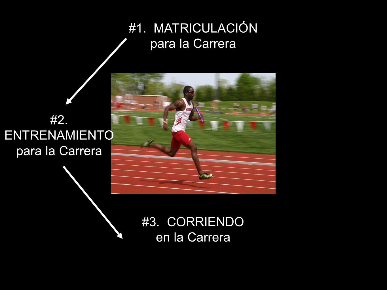 34 #1. MATRICULACIÓN para la Carrera #2. ENTRENAMIENTO para la Carrera #3. CORRIENDO en la Carrera