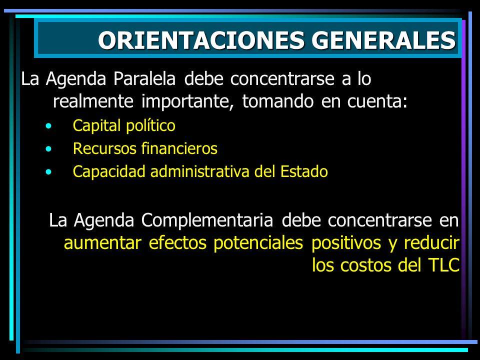 Las políticas paralelas deben contemplar el financiamiento de las medidas paralelas : CAFTA no incluye mecanismos financieros (a diferencia de MCCA, U