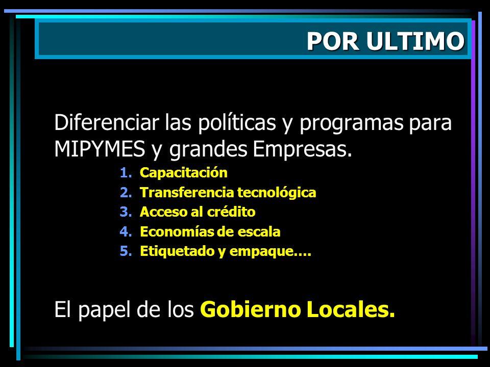 Dados los posibles efectos del CAFTA, la Agenda Paralela o Complementaria debería cubrir tres temas: 1.Desarrollo Rural 2.Cohesión Social 3.Política d