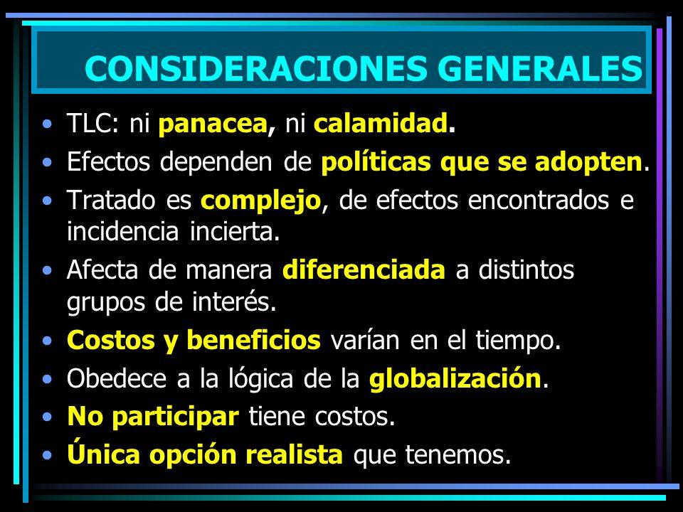 TLC: ni panacea, ni calamidad.Efectos dependen de políticas que se adopten.