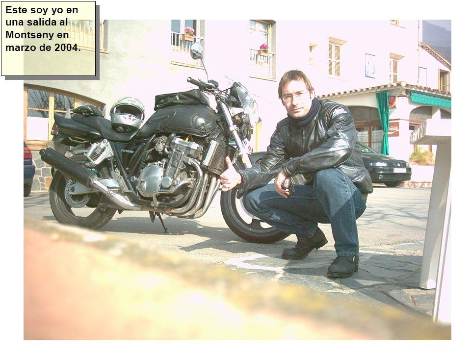 Este soy yo en una salida al Montseny en marzo de 2004.