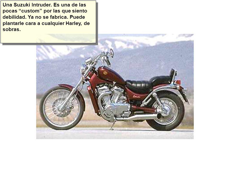 Una Suzuki Intruder. Es una de las pocas custom por las que siento debilidad.