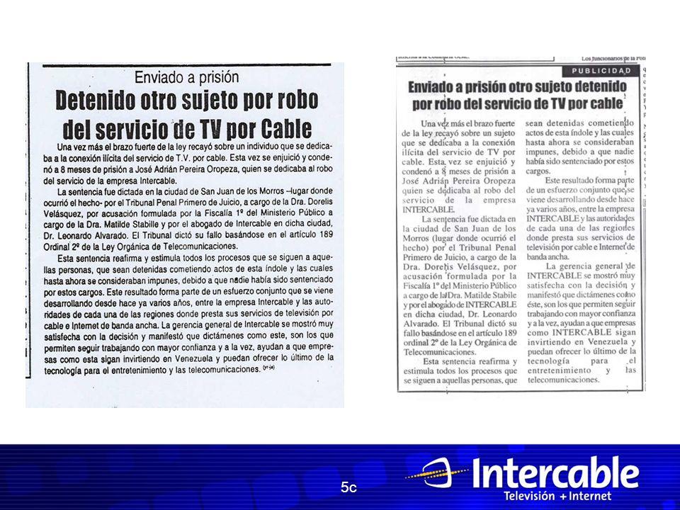El Mercado Intercable DirecTV Net Uno Supercable PROSENAL R.G.O.