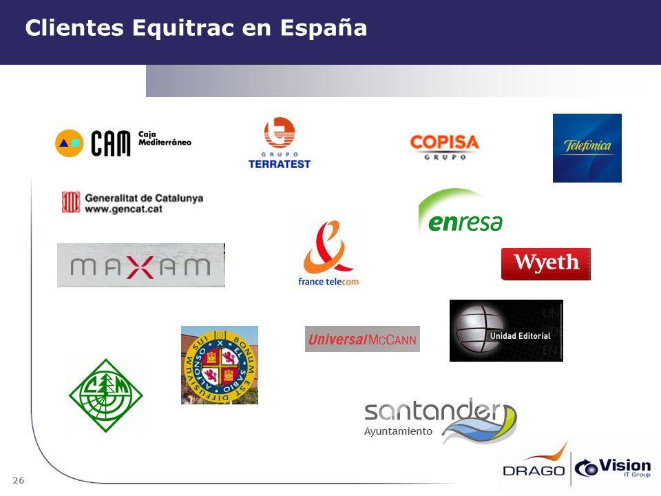 26 Clientes Equitrac en España