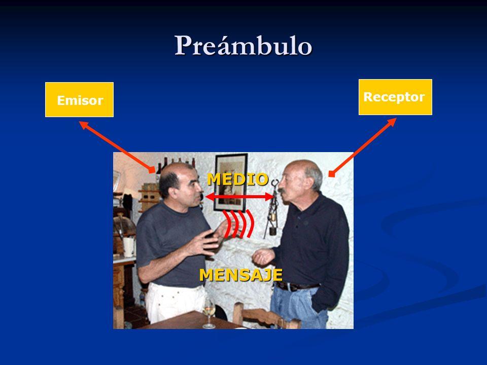 Preámbulo Emisor Receptor MEDIO MENSAJE