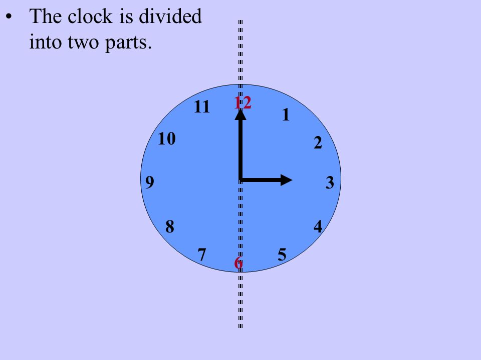 The clock is divided into two parts