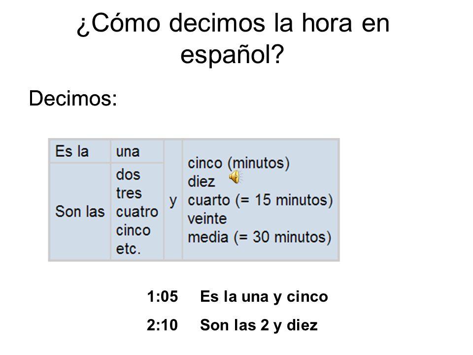 Que hora es? Mrs. Fernandezs Spanish Class
