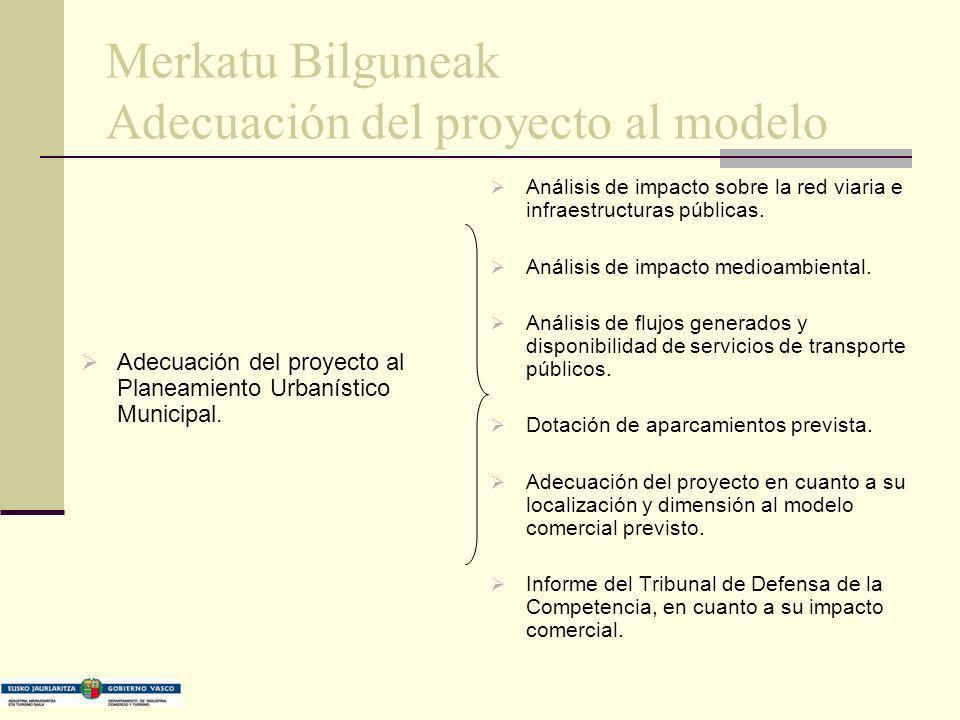 Merkatu Bilguneak Adecuación del proyecto al modelo Adecuación del proyecto al Planeamiento Urbanístico Municipal. Análisis de impacto sobre la red vi