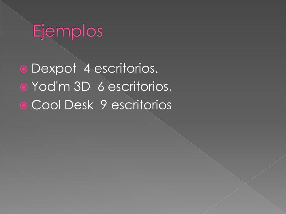 Dexpot 4 escritorios. Yod m 3D 6 escritorios. Cool Desk 9 escritorios