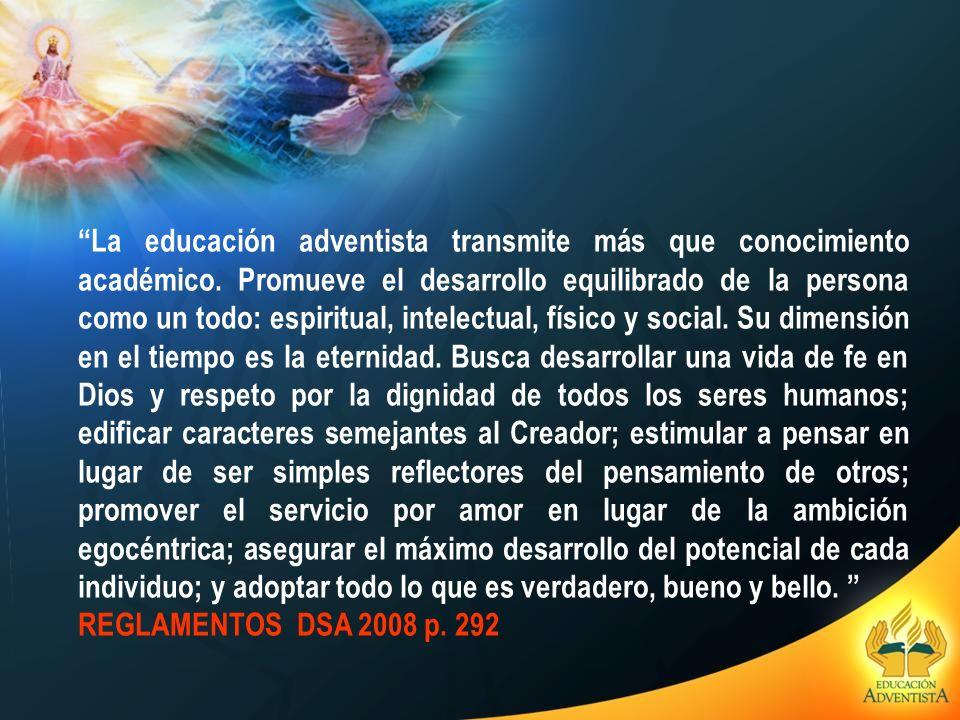 La educación adventista transmite más que conocimiento académico. Promueve el desarrollo equilibrado de la persona como un todo: espiritual, intelectu